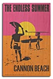Cannon Beach, Oregon - The Endless Summer - Original Movie Poster (10x15 Wood Wall Sign, Wall Decor Ready to Hang)