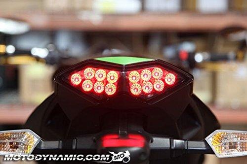 2010-2013 Kawasaki Z1000 11-18 Ninja 1000 10-18 Versys 650 Sequential LED Tail Lights Smoke MotoDynamic K10Z1-S