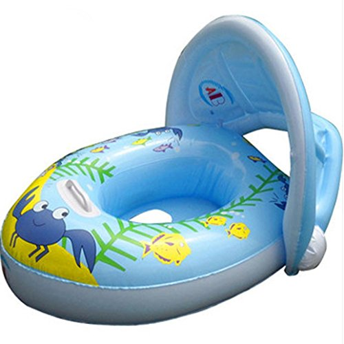 Leegor Summer Pop Baby Infant Inflatable Sunshade Swim Ring Premium Kid's Pool Float Chair Seat Play Beach Raft