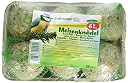 Erdtmanns Suet Balls Singly Packed in Green Nets and Shrink-Wrapped Tray, 5 by 7 by 2-Inch, 6-Pack