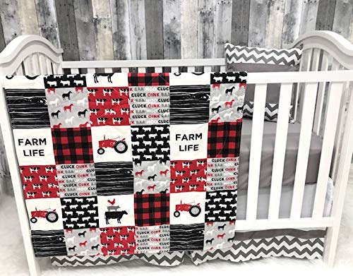 Baby Nursery Bedding, Baby, Farm LIfe, Cow, Chickens, Gender Neutral, Cowboy, Farmer, Tractor, Baby Bedding, Crib Bedding, Babylooms