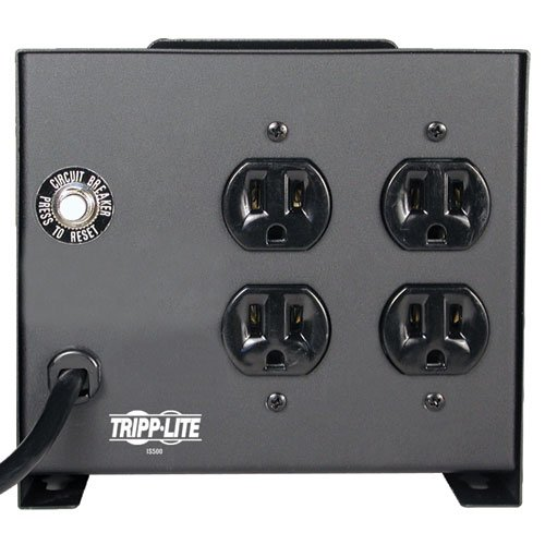 Tripp Lite IS500 Isolation Transformer 500W Surge 120V 4 Outlet 6 feet Cord TAA GSA