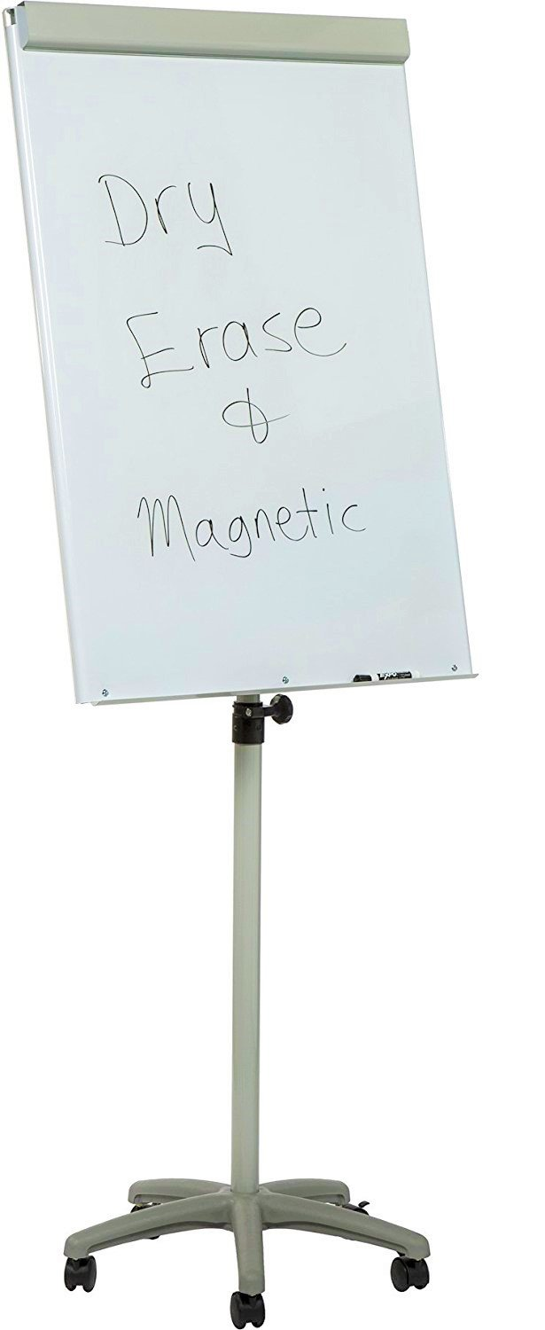 Heavy-Duty Mobile Magnetic Dry-Erase Flipchart Easel Audio-Visual Direct