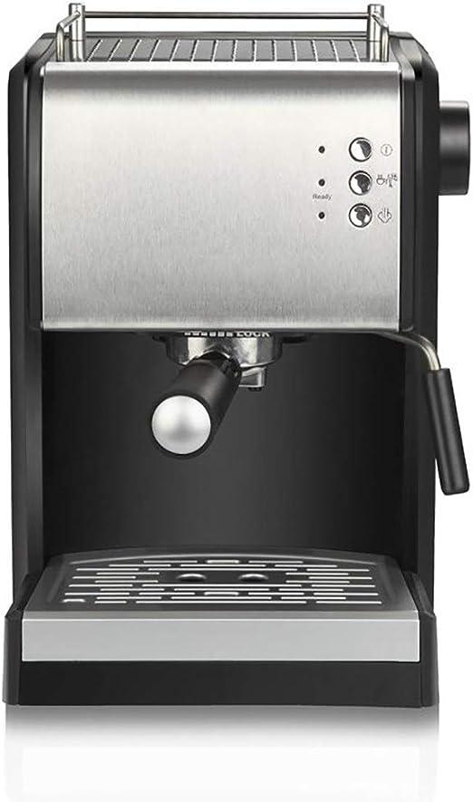 He-art Máquina de café Espresso y máquina de Capuchino, Tipo de Bomba Cafetera de 15 Bares incorporada Leche, Vapor y vaporizador Servidor Individual de 92 Grados Celsius 5-10 Tazas Sabor de café: