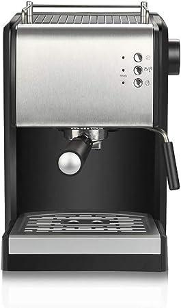 Cafetera Espresso y Sistema de Crema Máquina de Capuchino Juego de Paquete Barista 15bar 1.5l Vaporizador y vaporizador empotrados Cafetera Negra e Inoxidable: Amazon.es: Hogar