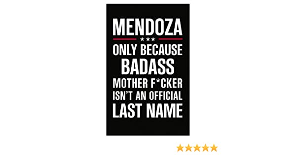 Amazon com: Gift For Badass Mendoza Last Name - Poster