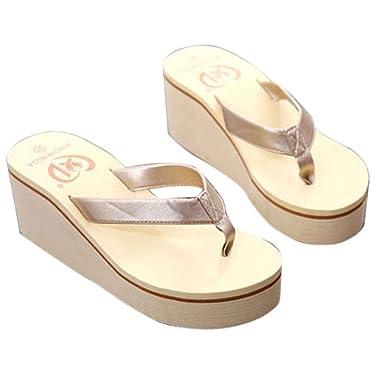 Damen Schuhe FORH Frauen Sexy Mode High Heels Flip Flops Zehentrenner Casual Sommer Sandalen Slipper Indoor Outdoor...