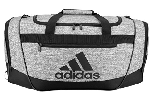 Soccer Gym Bag - adidas Defender III medium duffel Bag, Onix Jersey/Black, One Size