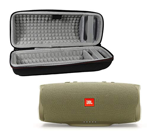 JBL Charge 4 Waterproof Wireless Bluetooth Speaker Bundle with Portable Hard Case - Sand