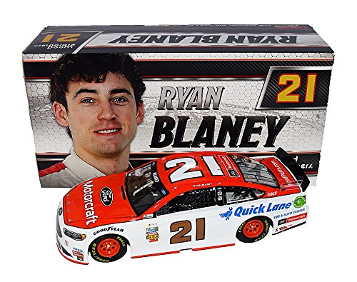 Motorcraft Racing (AUTOGRAPHED 2017 Ryan Blaney #21 Motorcraft Team (Wood Brothers Racing) Monster Energy Cup Series Rare Signed Lionel 1/24 Scale NASCAR Collectible Diecast Car with COA (#509 of only 937 produced!))