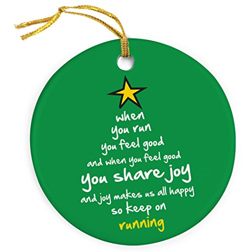 When You Run Christmas Tree Ornament | Running Porcelain Ornaments (Ornament Runner Christmas)