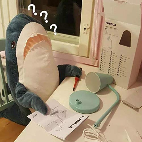 AFYBL 39.4 inch Shark Giant Stuffed Animal Toy, Wildlife, Soft Polyester Fabric, Beautiful Shark Markings, Handcrafted Kids Huggable Pillow for Pretend Play, Travel, Nap Time