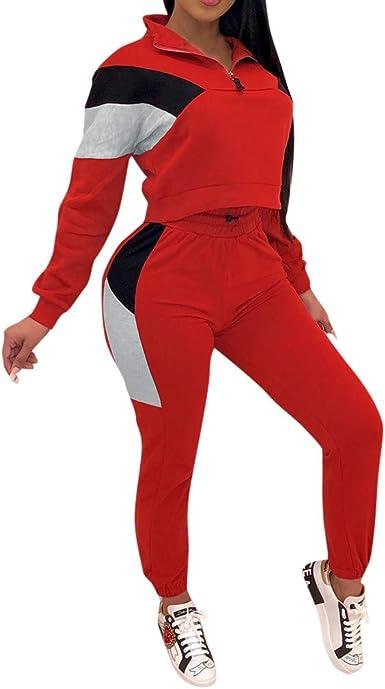 Chándal Mujer Gimnasia 2 Piezas Sudadera + Pantalones Pijama ...