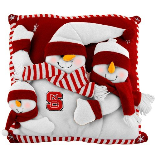 North Carolina State Snowman Pillow