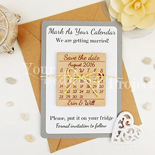 Save the Date Magnet Calendar Save the Date Wood Save the Dates Wedding Invitation Wedding Favors Rustic Save the Date Wooden Magnet Set of 10