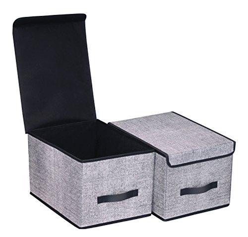 Onlyeasy Fabric Organizer Cube Basket Bin - Large Clothing F