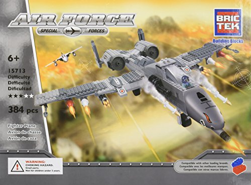BRICTEK BUILDING BLOCKS 15713 Air Force Fighter Plane 384pcs