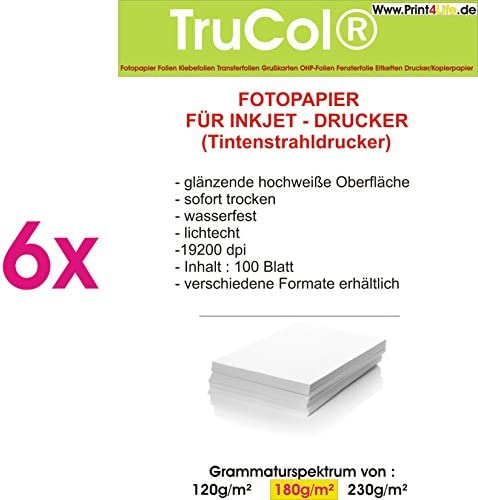 trucol P4L – 600 Blatt Fotopapier Photopapier 180g hochglänzend A4