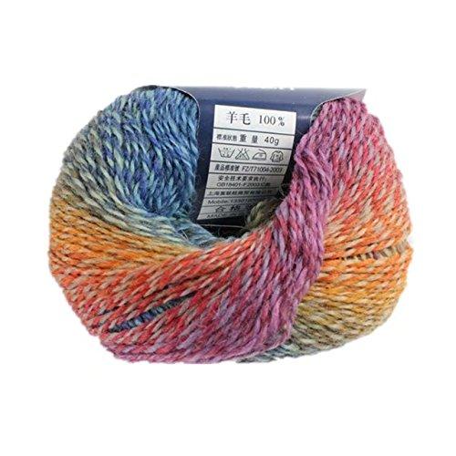 Celine lin One Skein 100% Australia Wool Colorful knitting Yarn Baby Crochet Yarn - Celine Australia