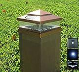 4 Pack Garden Sunlight Plastic Copper 6x6 Outdoor 5 LED 78lumens Solar Light Post Cap Light