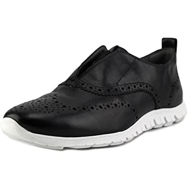 Cole Haan Women's Zerogrand Slip-On Wing Black/Optic White Sneaker 10.5 B (