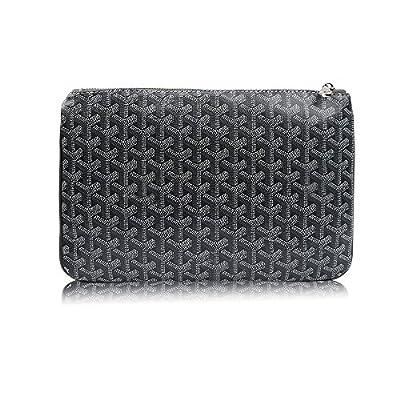 Stylesty Fashion Clutch Bag, Pu Envelope Clutch Purse, Women Handbag (Medium, Dark Grey)