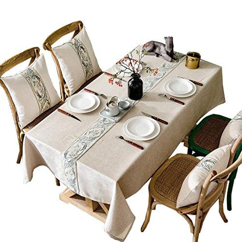 B 130180CM Nappe d'Art en Tissu, Table à Manger Réunion Ronde Nappe Nappe Restaurant Impression Couleur Pure Hôtel Nappe AliHommestaire Ouest Longueur 135-220 CM (Couleur   B, taille   130  180CM)