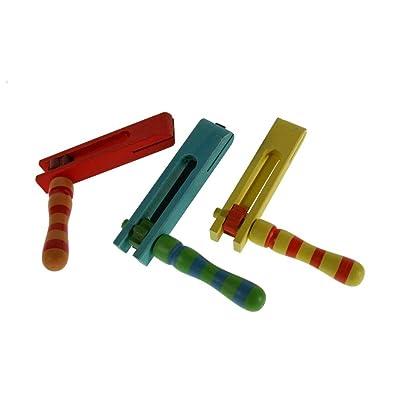CAL FUSTER - Matraca de Madera Colores. Medidas: 13x13x2 cm.: Juguetes y juegos