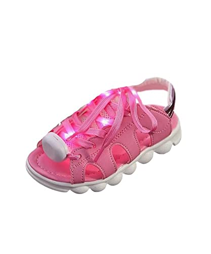 dd74288e12ad DAYAN 2016 Summer Kids Shoes LED Lights Baby Shoes Facing Breath Tide Thong  Sandals Shoes pink