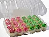 Katgely Mini Cupcake Boxes, Mini Cupcake Containers, 24 Mini Cupcakes, Set of 10