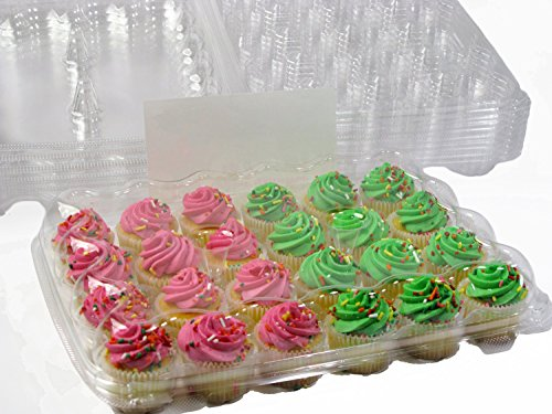 Katgely Mini Cupcake Boxes, Mini Cupcake Containers, 24 Mini Cupcakes, Set of 10