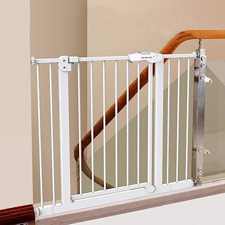 Huo Barrera de Seguridad para Niños, Guardabarros para Escaleras, Puertas para Mascotas, para Puertas/Pasillos/Escaleras (Size : Width 85-94cm): Amazon.es: Hogar