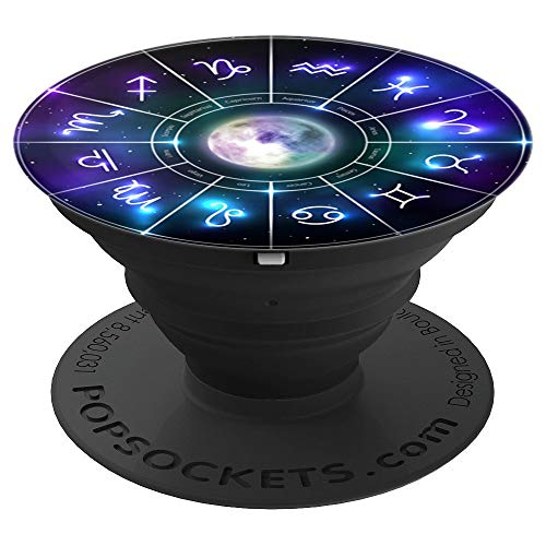 Zodiac Astrology Wheel Star Sign Symbol Astrology Birth Grip - PopSockets Grip and Stand for Phones and Tablets (Best Stars For Birth)