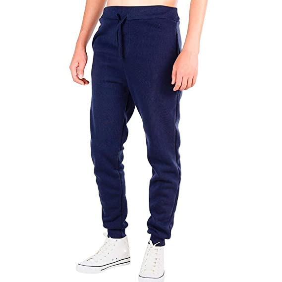 Pantalones Hombre Hombre Slim Fit Bottoms Skinny Chándal Joggers ...