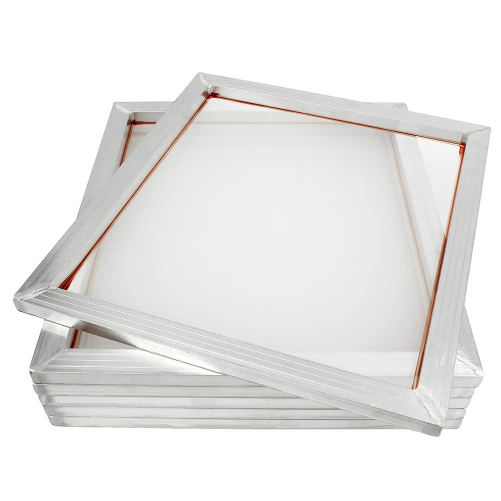 abbort 6Pack Aluminum Silk Screen Frame Printing Press Screens 110 Mesh 45 x 50cm