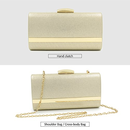 Evening Purse With Women Large Evening Bags Strap Metallic clutches Gold Clutch TSBXq