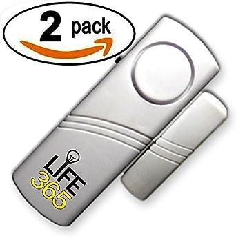 Puerta de alarma / ventana de alarma inalámbrico con sensor magnético. Paquete de 2. 100% de garantía.