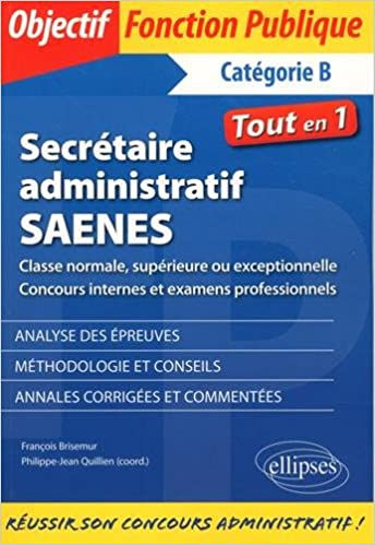 acd287af92a Amazon.fr - Secrétaire administratif   SAENES de classe normale ...
