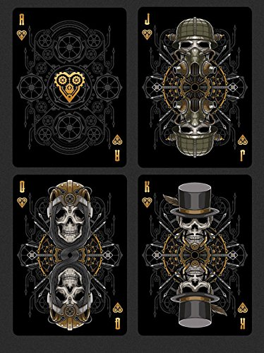 Steampunk Bandits 2 Deck Set Bicycle Playing Cards Poker Size Deck USPCC Limited 5