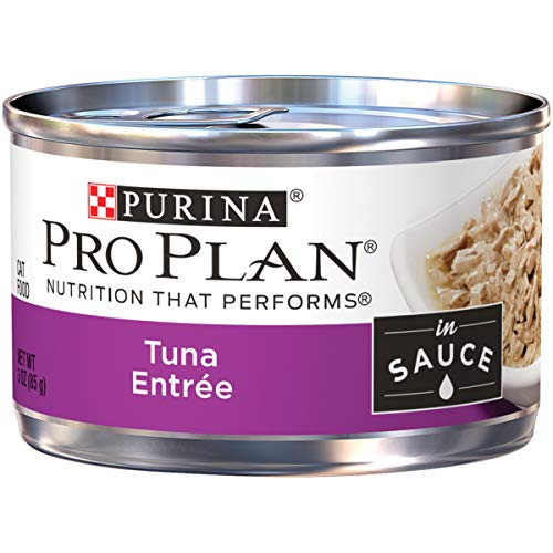 Purina Pro Plan Wet Cat Food; Tuna Entree in Sauce - 3 oz. Pull-Top Can (Pack of - Plans Three