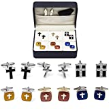 Cross Crosses 6 Christian Different Pairs Cufflinks with a Presentation Gift Box …