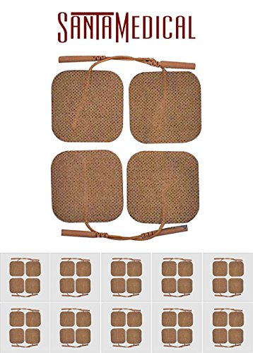 Cloth Electrodes - Santamedical 40 Tan 2