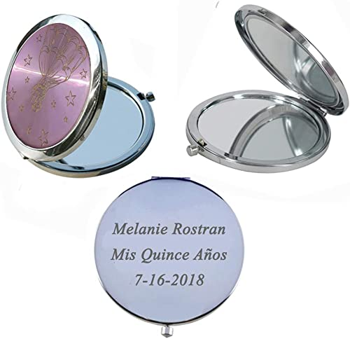 Mis Quince A os 12 PCS Sweet 15, Sweet Sixteen, Quincea era, Mis 15 A os Compact Mirror Pink
