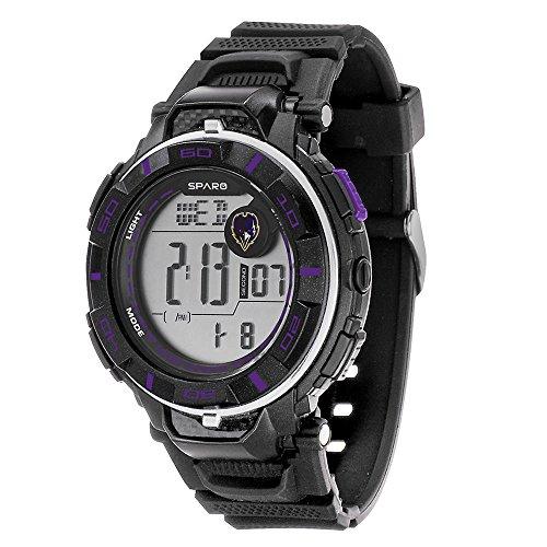 Sport Nfl Mens Watch (NFL Baltimore Ravens Men's Sparo Power Digital Watch)