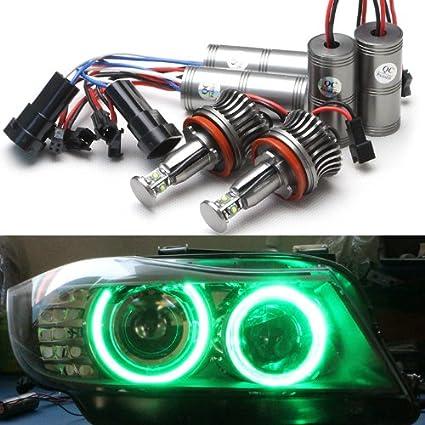 Nslumo Super Bright Green Car Led Angel Eye Halo Ring Bulbs Kit H8 Light Lamp For Bmw E60 E90 E92 E70 E71 E89 E82 1 3 5 6 Series X5 X6 Z4