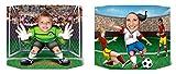 Beistle S57956AZ2 Soccer Photo Props, Multicolored