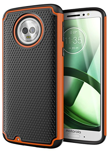 Cimo Armor Moto G6 Case with Shockproof Dual Layer Protection and Rugged Hybrid Shell for Motorola Moto G6 - Orange