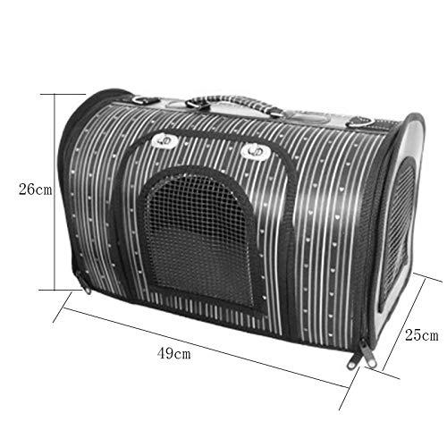 A_Feel zaino per animali domestici domestici domestici Cane da compagnia zaino cane fuori portatile pieghevole borsa da viaggio gas traspirante borsa gatto forniture cane (MODELLO   F.-L.) 68100e