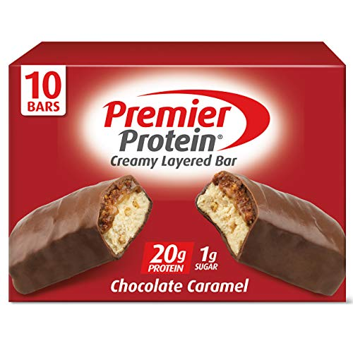 Premier Protein 20g Protein bar, Chocolate Caramel, 2.08 Oz, (10Count)