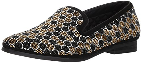 Steve Madden Men's Caspian Loafer, Black/Gold, 12 M US by Steve Madden